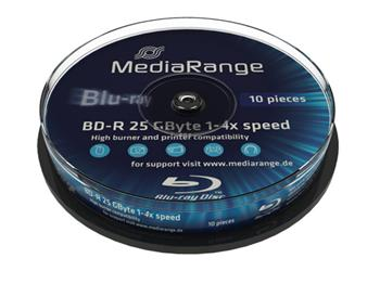 MEDIARANGE BD-R BLU-RAY 25GB 4x Cake 10