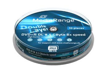 MEDIARANGE DVD+R 8,5GB 8x DoubleLayer Cake 10