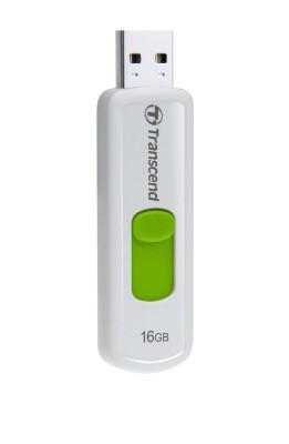 Transcend 16GB JetFlash 530, USB 2.0 flash disk, bílo/zelený