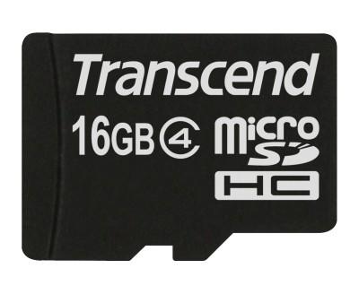 Transcend 16GB microSDHC (Class 4) paměťová karta (bez adaptéru)