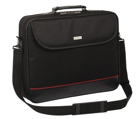 """Modecom brašna Mark na notebooky do velikosti 17"""", kovové přezky, černá"""