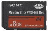 Sony MSHX8B Memory Stick PRO-HX Duo 8 GB, 50MB/s (240Mbps)* Read/Write