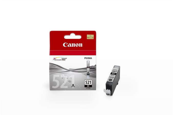 Canon cartridge CLI-521BK Black BLISTR bez ochrany (CLI521Bk)