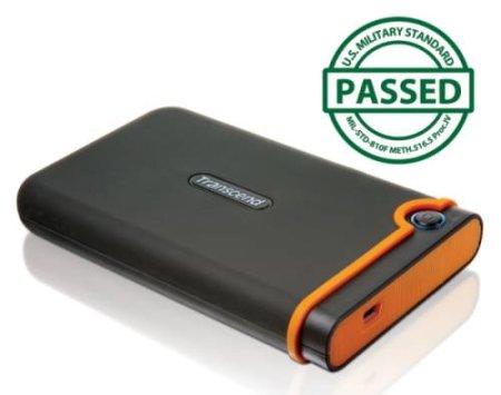 """TRANSCEND 1TB StoreJet 25M2, USB 2.0, 2.5"""" Externí Anti-Shock disk, šedo/oranžový"""