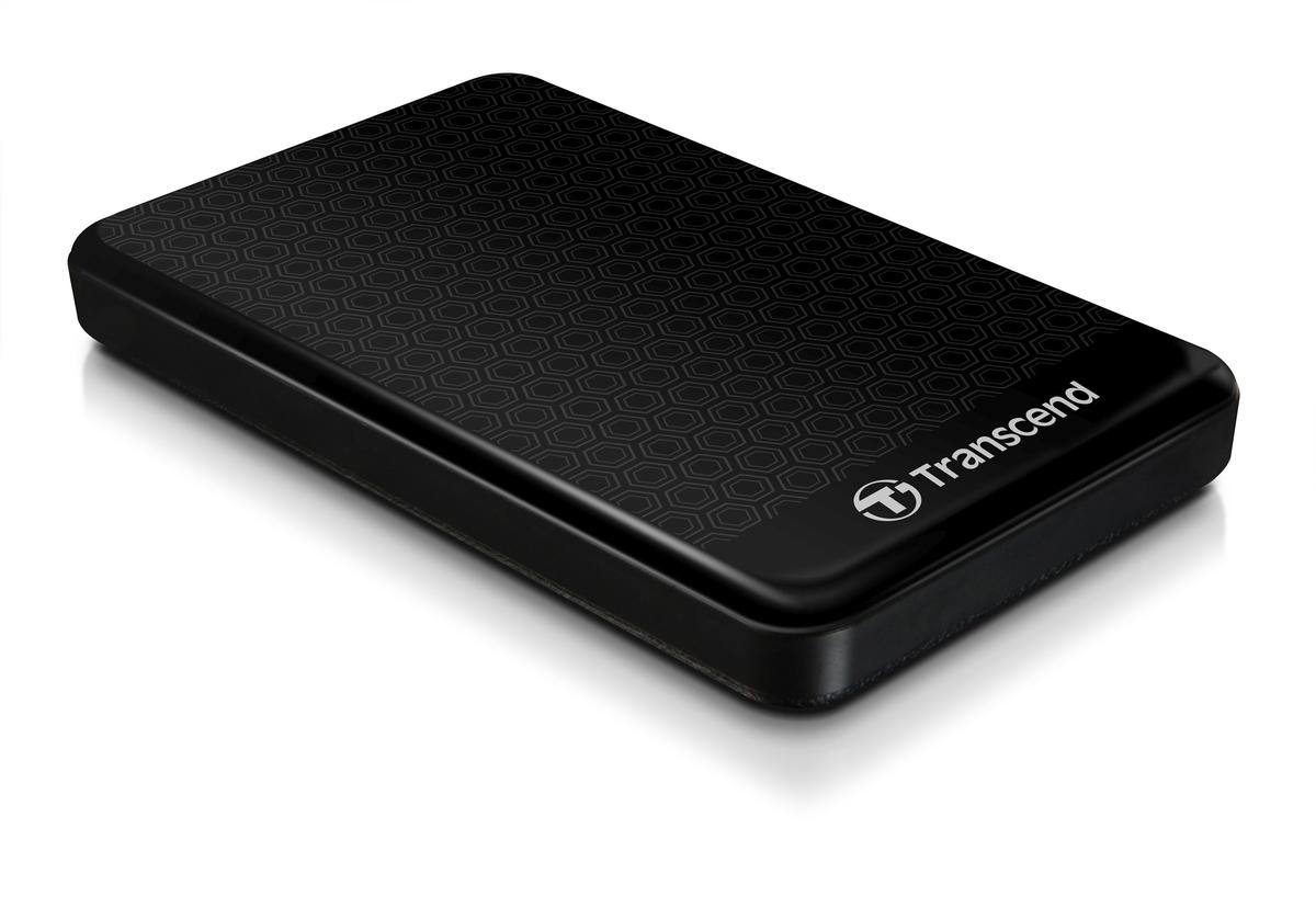 """TRANSCEND 500GB StoreJet A3, USB 3.0, 2.5"""" Stylový externí odolný hard disk, černý se vzorem"""