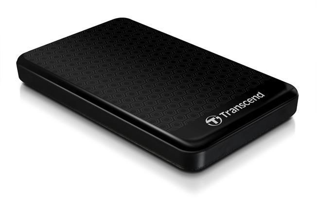 """TRANSCEND 1TB StoreJet A3, USB 3.0, 2.5"""" Stylový externí odolný hard disk, černý se vzorem"""
