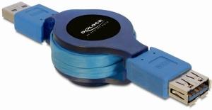 Delock USB 3.0 kabel prodlužující A/A samec/samice délka 1m samonavíjecí