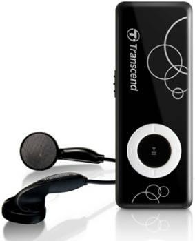 Transcend 8GB Flash MP3 Přehrávač MP300, černý