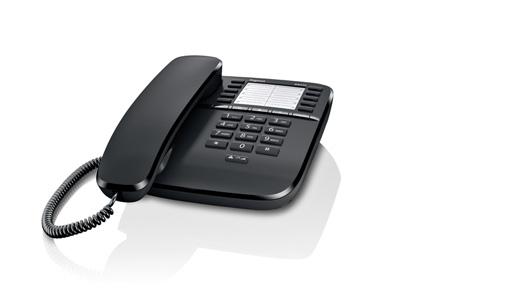 SIEMENS Gigaset DA510 - standardní telefon bez displeje, barva černá