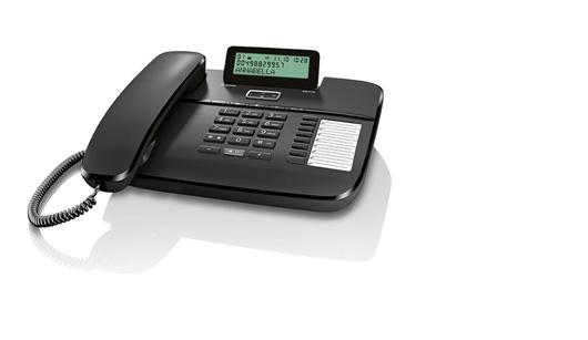 SIEMENS Gigaset DA710 - standardní telefon s displejem, barva černá