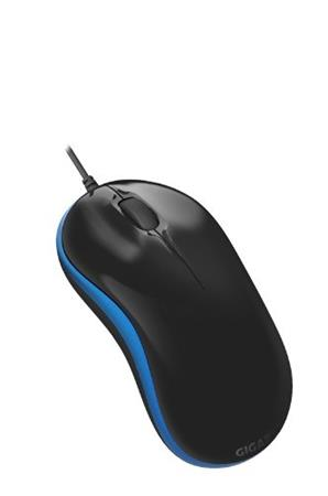 GIGABYTE Myš Mouse GM-M5050X-BLUE, USB, Optical, Černá/Modrá