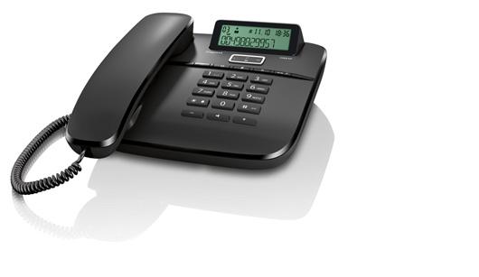 SIEMENS Gigaset DA610 - standardní telefon s displejem, barva černá
