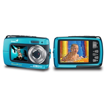 Genius digitální fotoaparát G-Shot 510/ vodotěsný IPX08/ 8MP/ modrý