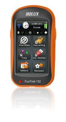 """HOLUX Funtrek 132 + Mapy CZ/SK, cyklo-computer,outdoor, 3"""" dotykový displej, GPS,4GB, microSDHC"""