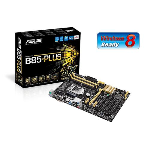 ASUS B85-PLUS, 1150, B85, 4xDDR3, VGA-out, 2xPCIe16, GL, 8CH, USB3.0