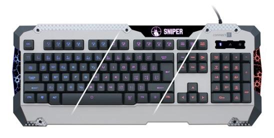 CONNECT ITSNIPER klávesnice pro hráče GK5500, bílá