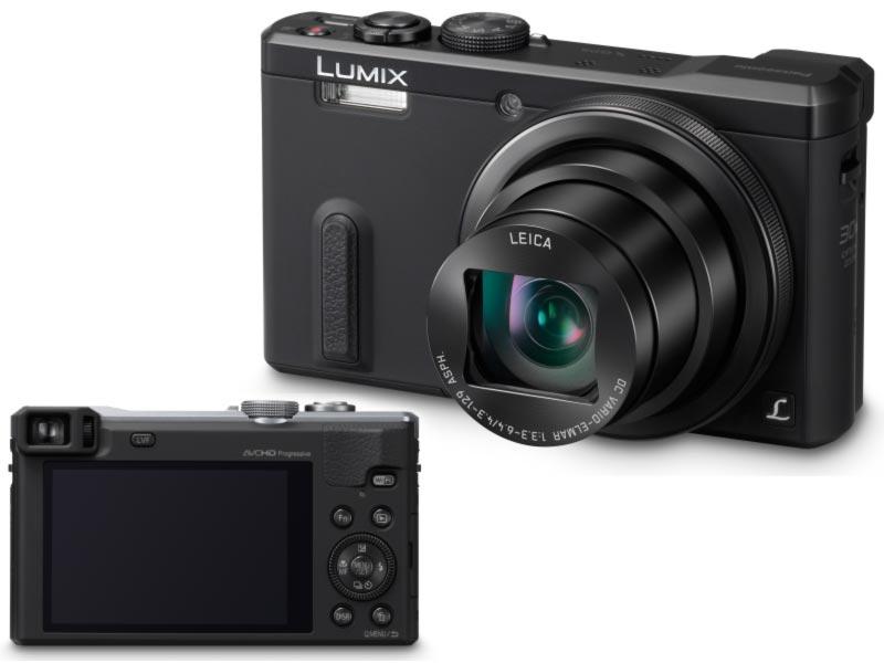 Panasonic DMC-TZ60EP-K, 18.1 Mpx MOS, 30x zoom 24mm HOIS+, Full HD, WiFi, GPS, hledáček, černá