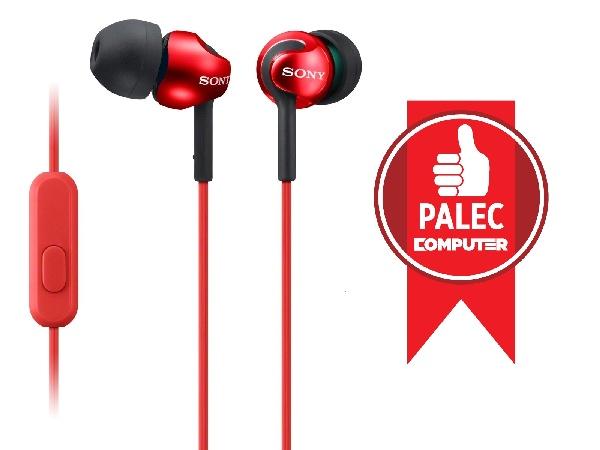 SONY MDR-EX110AP Sluchátka do uší s mikrofonem, rozsah 5 až 24000 Hz - Red