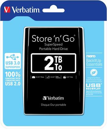"""Akce!!! VERBATIM Hard Drive 2,5"""" 2TB USB 3.0 Black"""