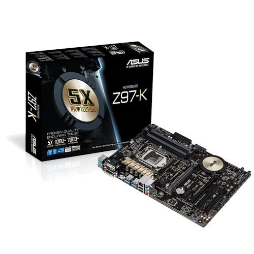 ASUS Z97-K, 1150, Z97, 4xDDR3, 2xPCIe16, DVI, D-sub, HDMI, ATX