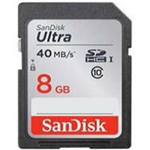 SanDisk SDHC 8 GB Ultra, 40MB/s, UHS-I, class 10/U1
