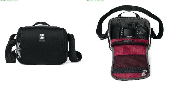 Crumpler Base Layer Camera Cube M - black/rust red