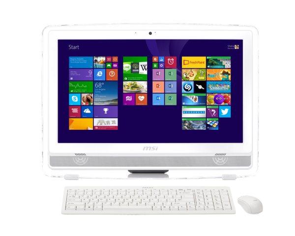 MSI AIOAE222-220XEU White 21,5 FHD MT, Intel® Core™ i3 4160 (3.6GHz), 4GB, 1TB, DVDRW, Intel® HD, HDMI, USB3, noOS