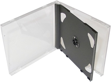 COVER IT Krabička na 2x CD - černá tray - jewel box