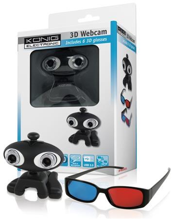 König CMP-WEBCAM3D10 - 3D webkamera + 6 brýlí