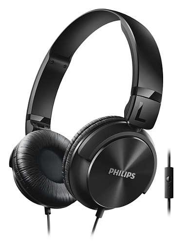 Philips sluchátka s mikrofonem SHL3065BK