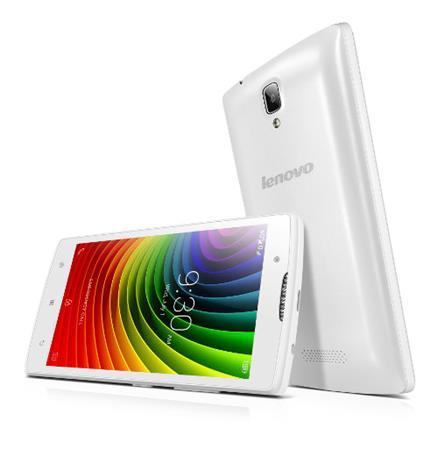 """Lenovo Smartphone A2010 SingleSIM/4,5"""" TN/854x480/Quad-Core/1,0GHz/1GB/8GB/5Mpx/LTE/Android 5.1/White"""