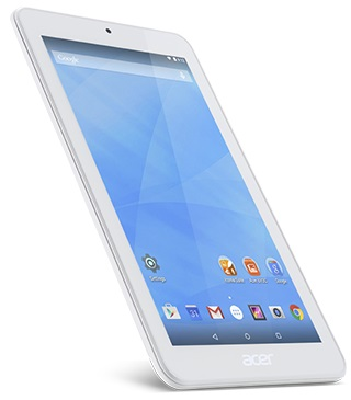 "Acer Iconia One 7 (B1-770) MT8127/7"" IPS 1024*600/1GB/16GB/BT/2xCAM/GPS/Android 5.0/White"