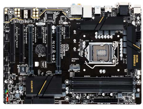 GIGABYTE MB Sc LGA1151 H170-D3H, Intel H170, 4xDDR4, VGA