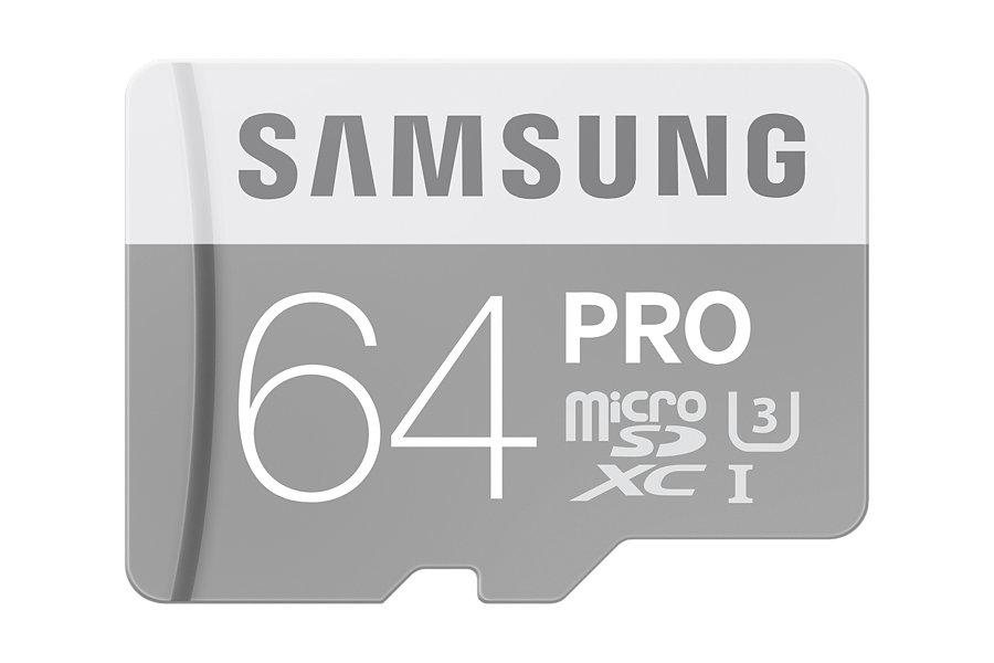 Samsung Micro SDXC karta 64GB Class 10 PRO + SD adaptér